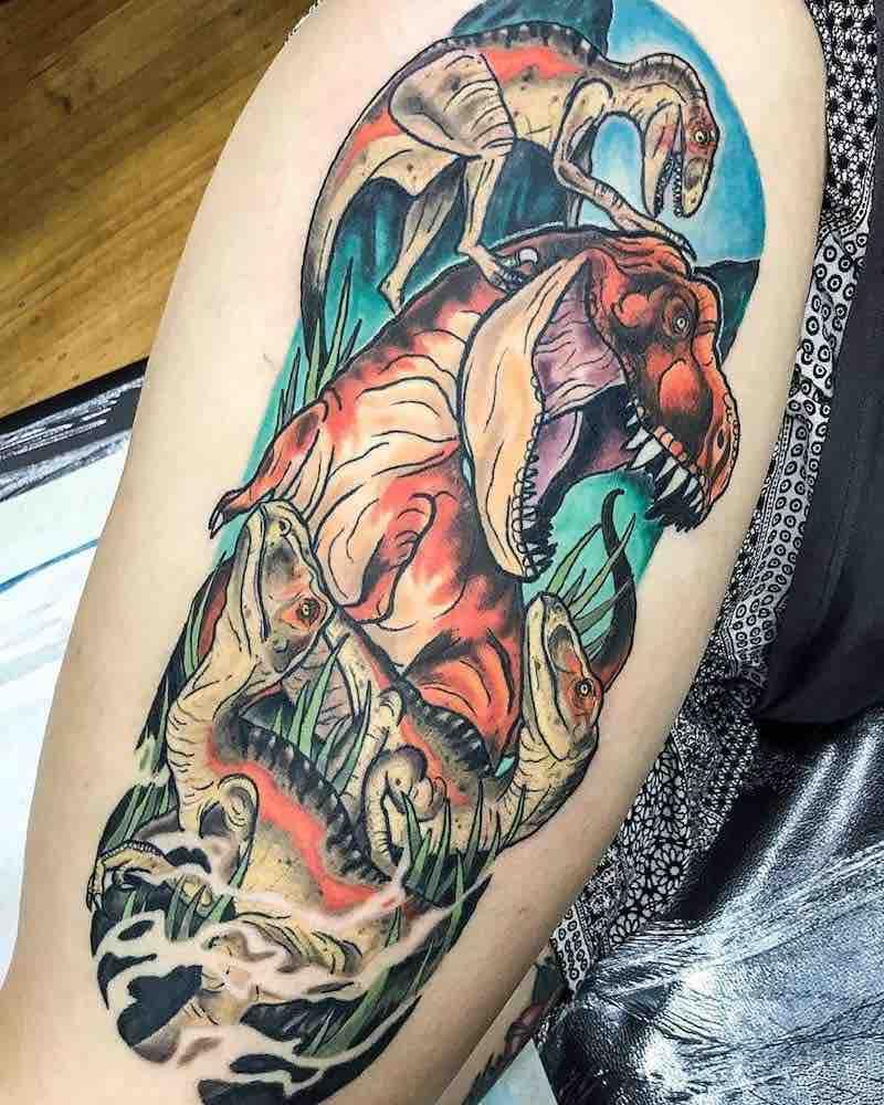 Dinosaur Tattoo by Benjamin Suski