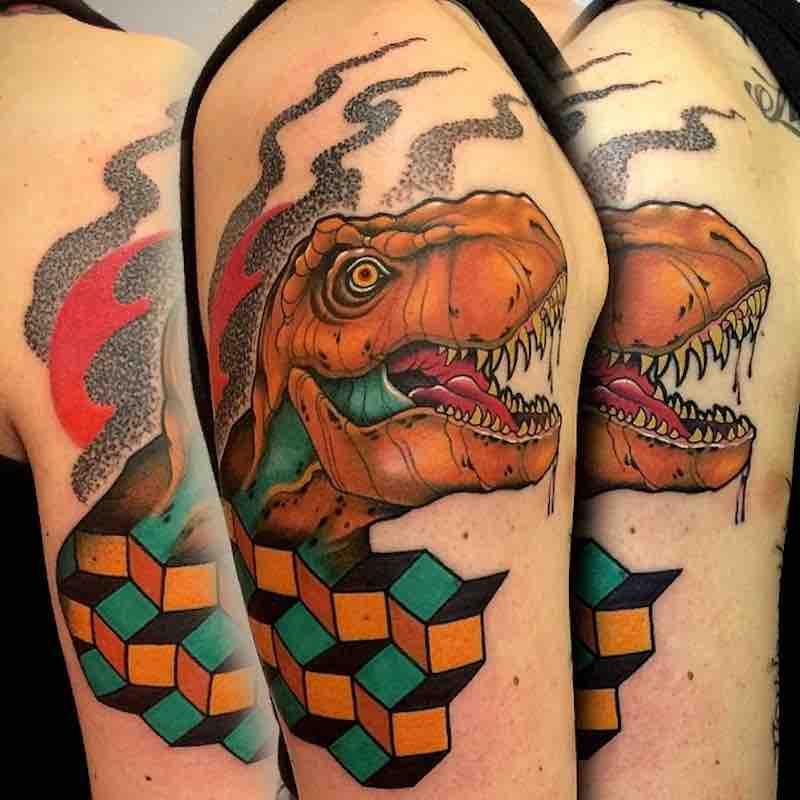 Dinosaur Tattoo by Fulvio Vaccarone