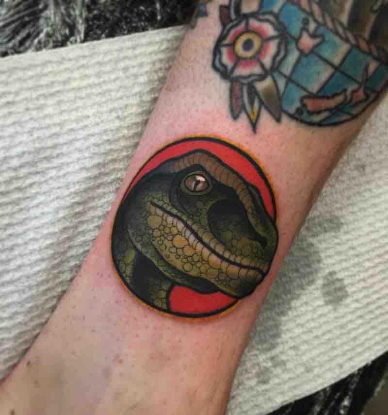 Dinosaur Tattoo by Heath Clifford