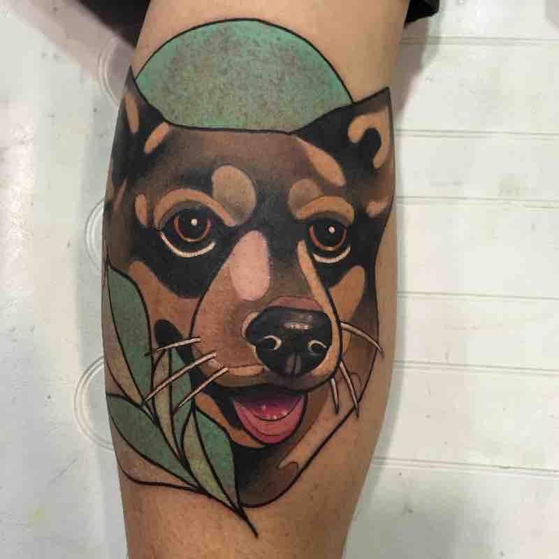 Dog Tattoo 2 by Leah Tattooer