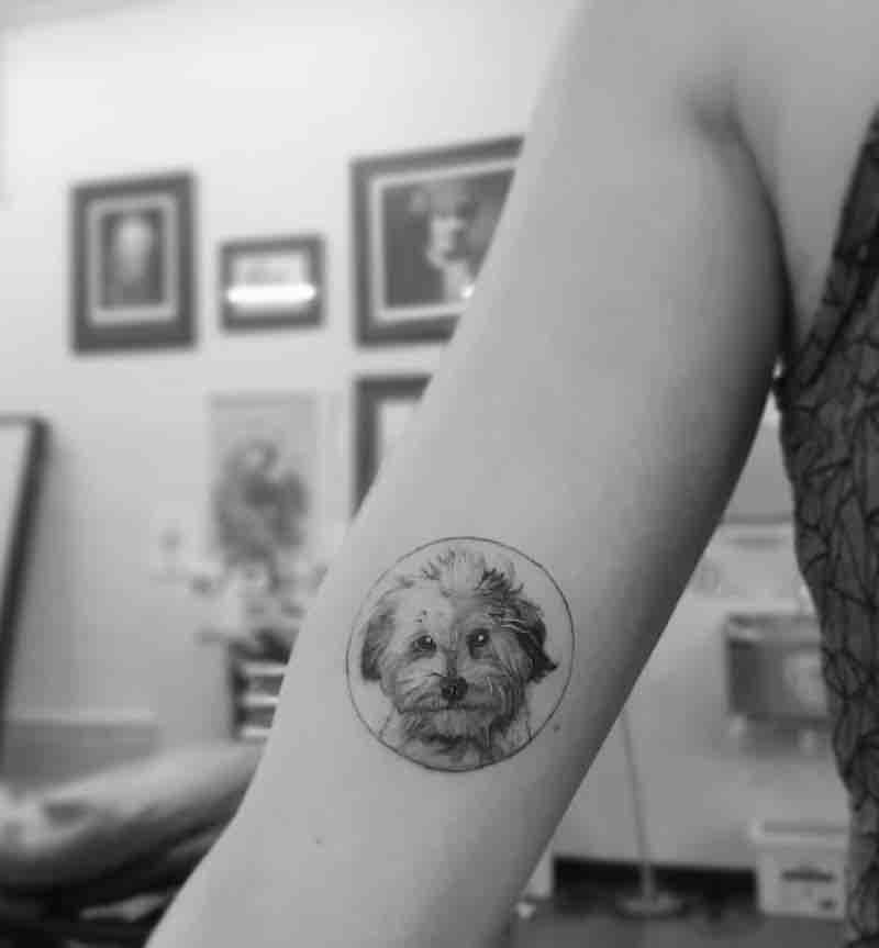 Dog Tattoo by Alexandyr Valentine