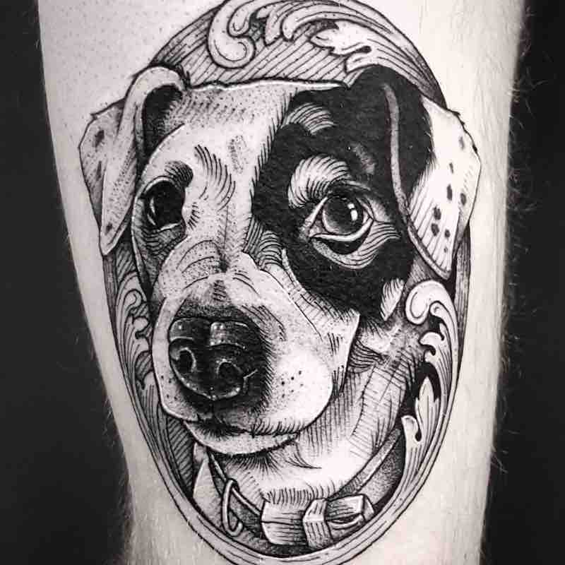 Dog Tattoo by Cutty Bage