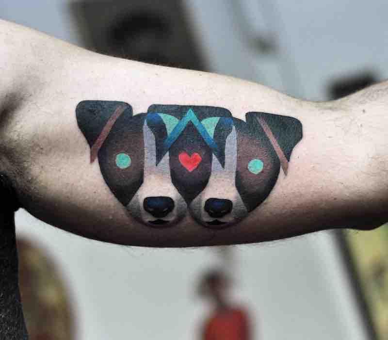 Dog Tattoo by David Peyote