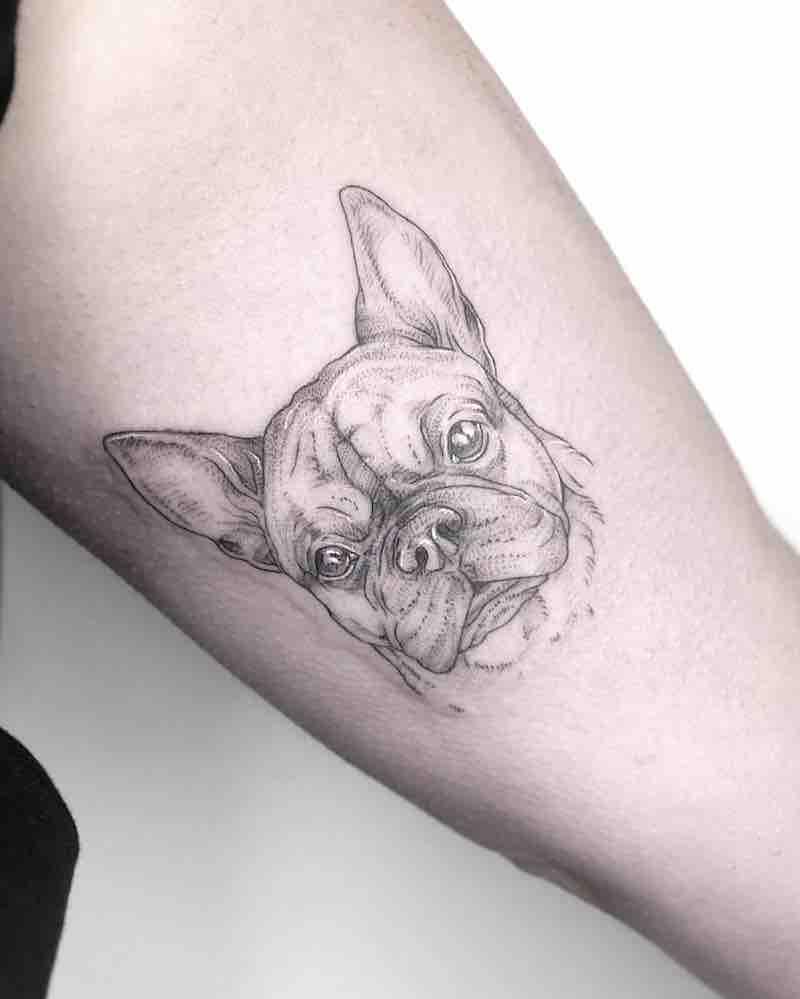 Dog Tattoo by Phoebe Hunter