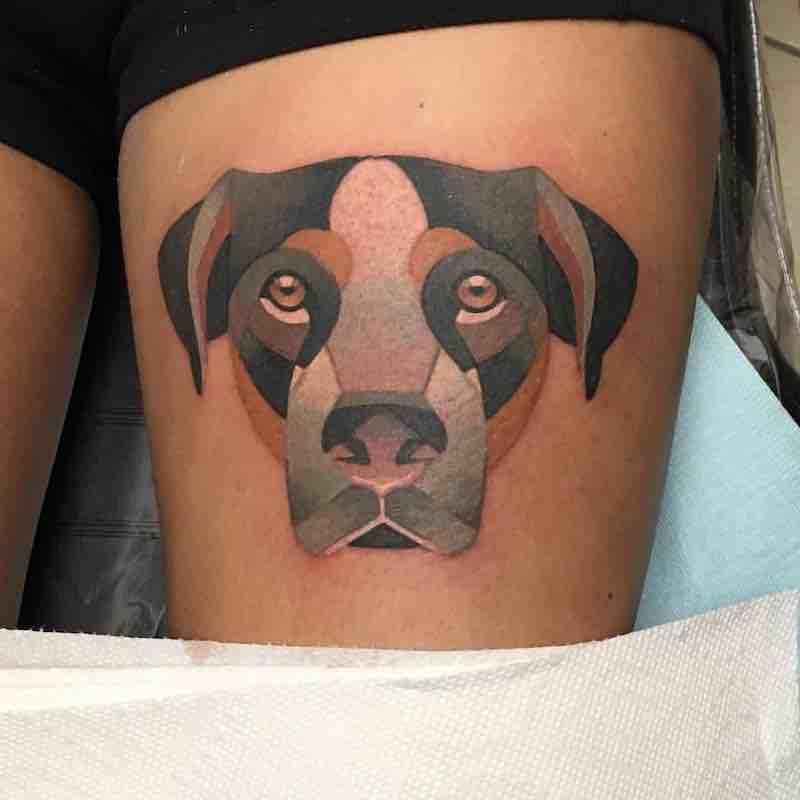 Dog Tattoo by Tara Timoon
