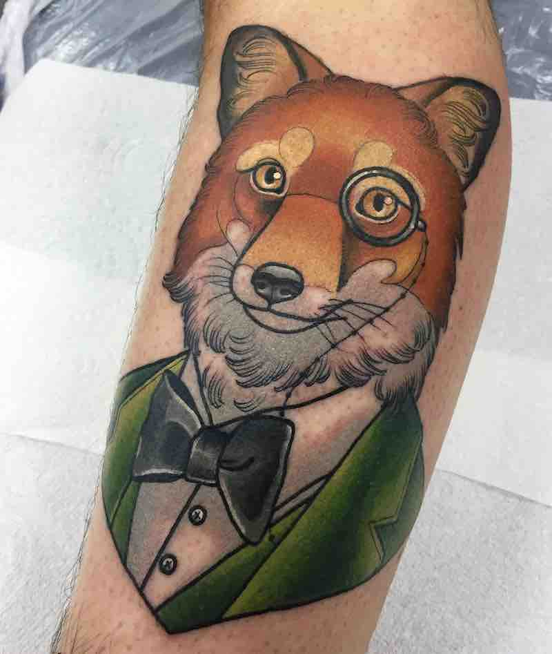 Fox Tattoo 2 by Ashley Luka