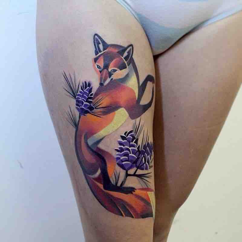 Fox Tattoo 2 by Sasha Unisex