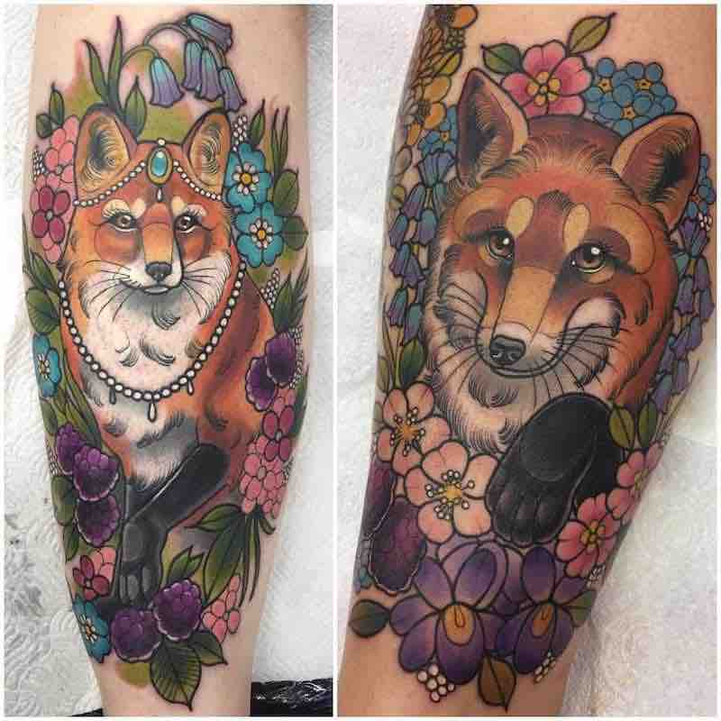 Fox Tattoo 3 by Ashley Luka