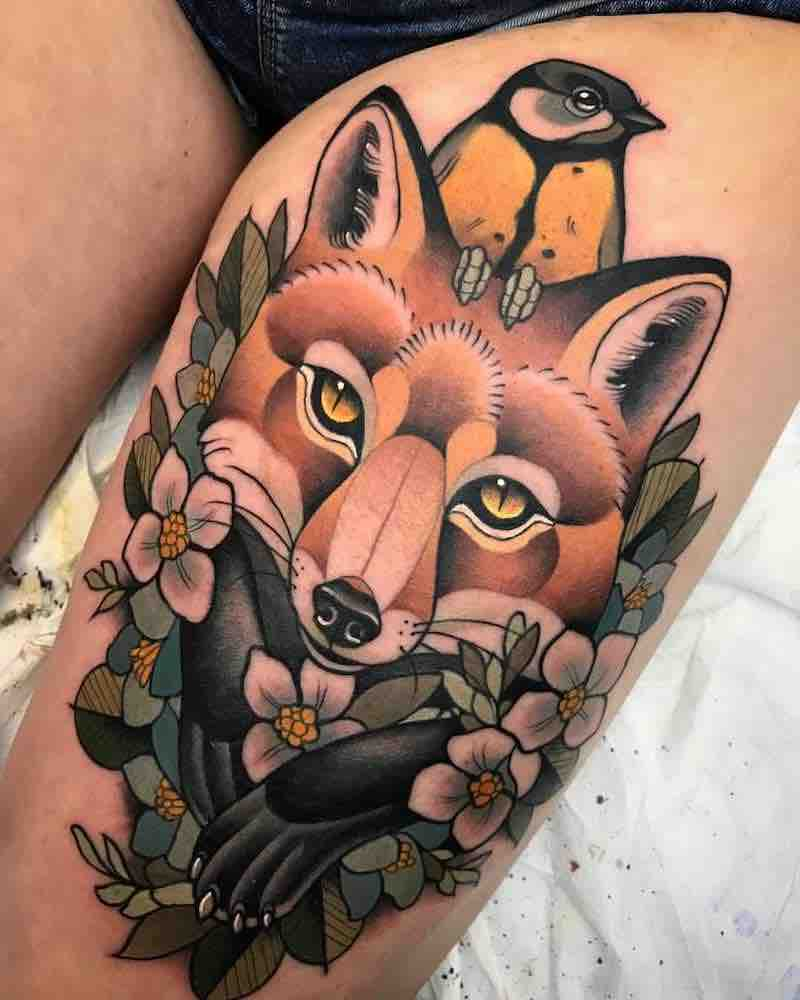 Fox Tattoo by Alvaro Alonso
