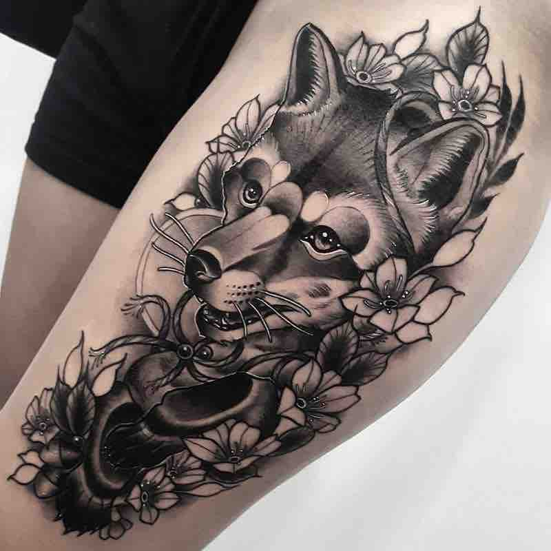 Fox Tattoo by Anthony Barros Castro