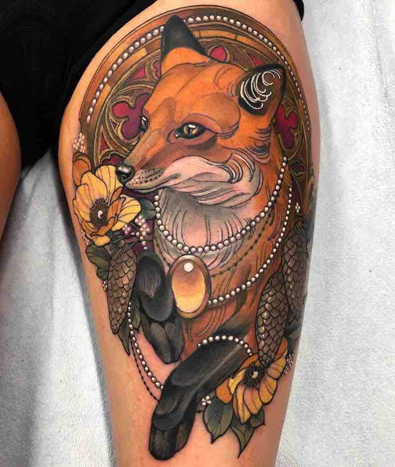 Fox Tattoo by Arielle Gagnon