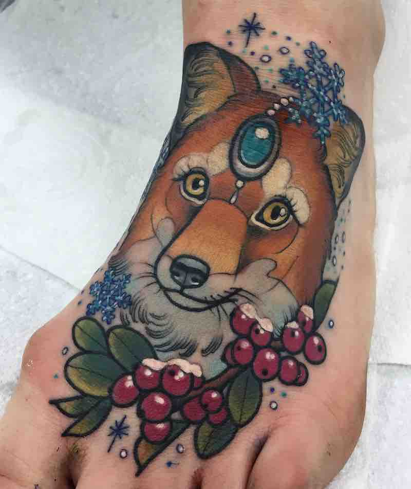 Fox Tattoo by Ashley Luka