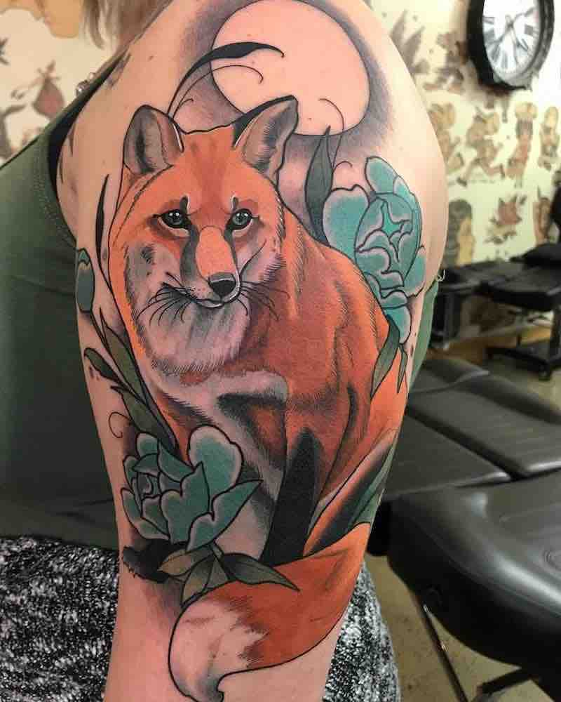 Fox Tattoo by Drew Shallis