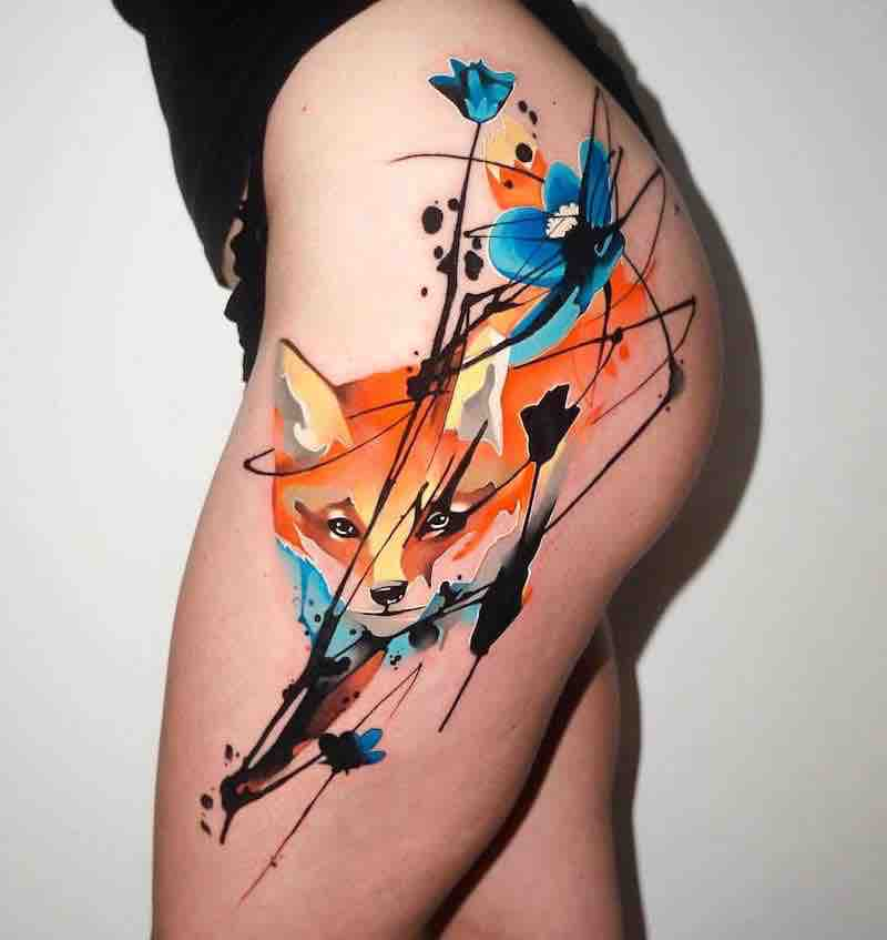 Fox Tattoo by Dynoz Art Attack