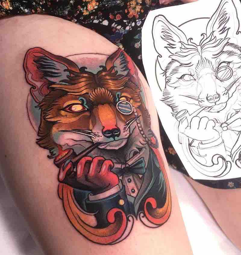 Fox Tattoo by Isnard Barbosa