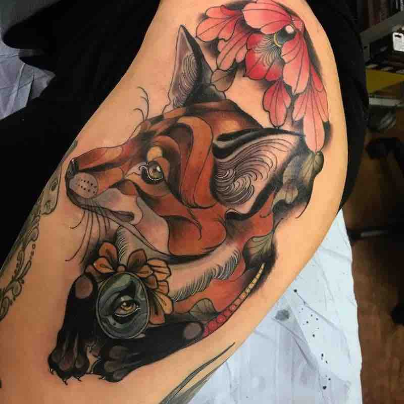 Fox Tattoo by Summer Heath
