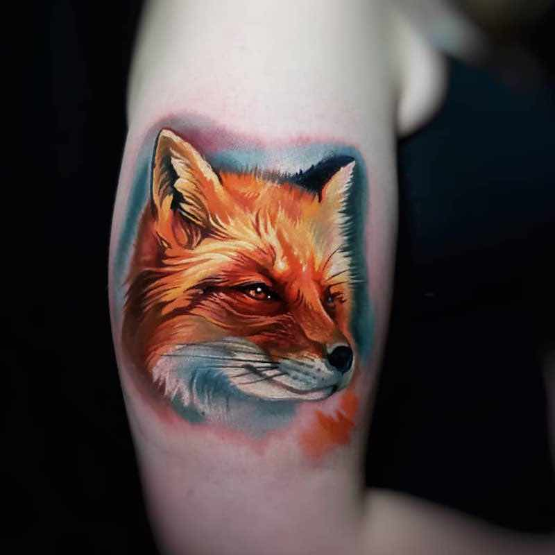 Fox Tattoo by Tyler Malek