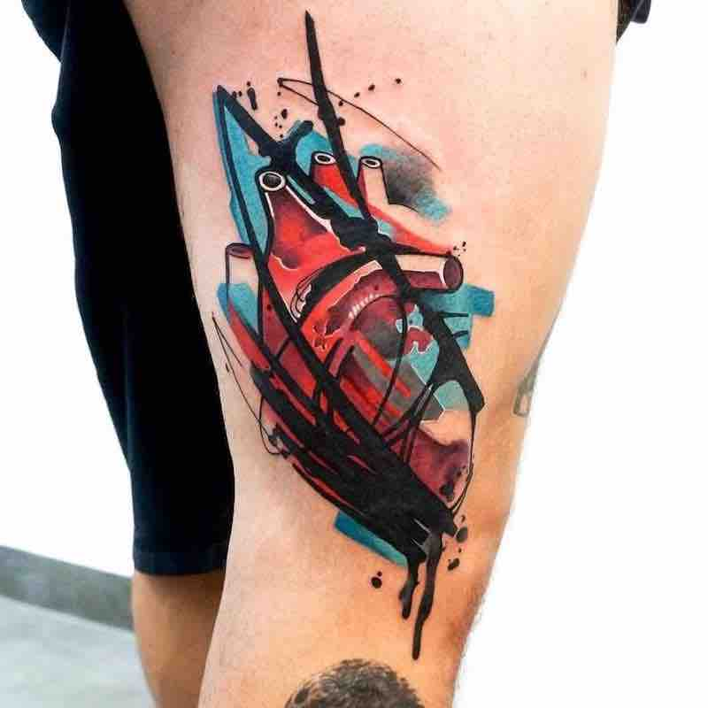 Heart Tattoo by Dynoz Art Attack