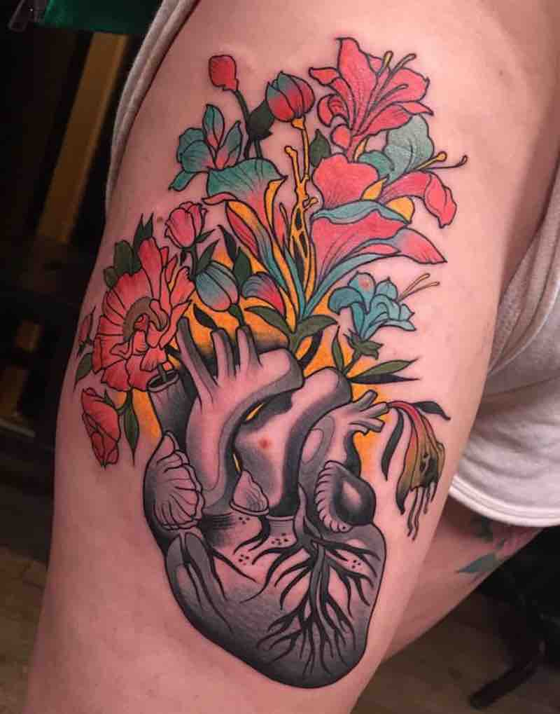 Heart Tattoo by Johnny Domus