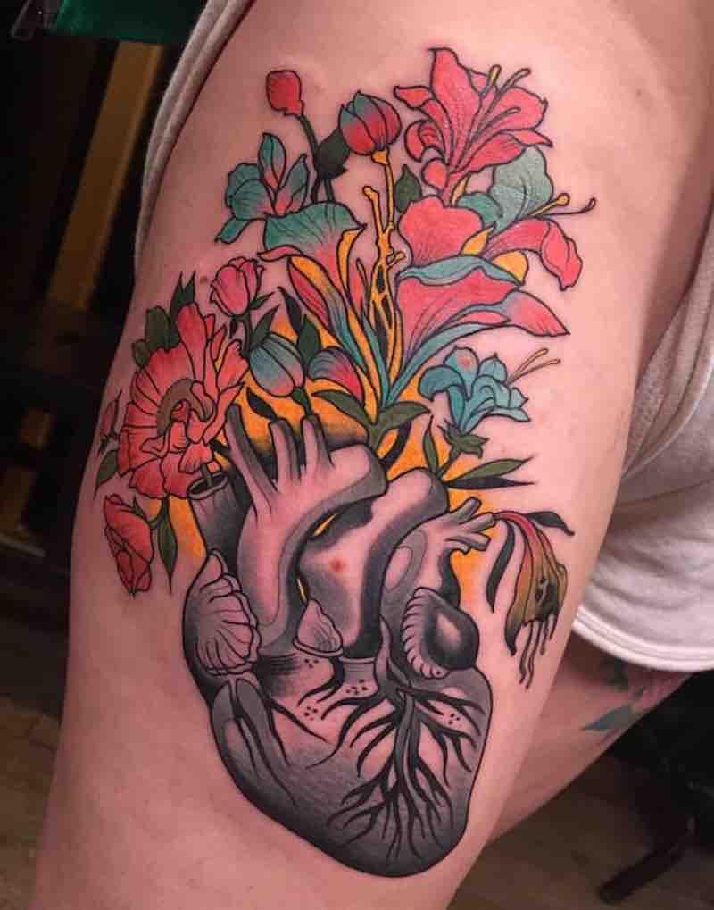 Heart Tattoo by Johnny Domus