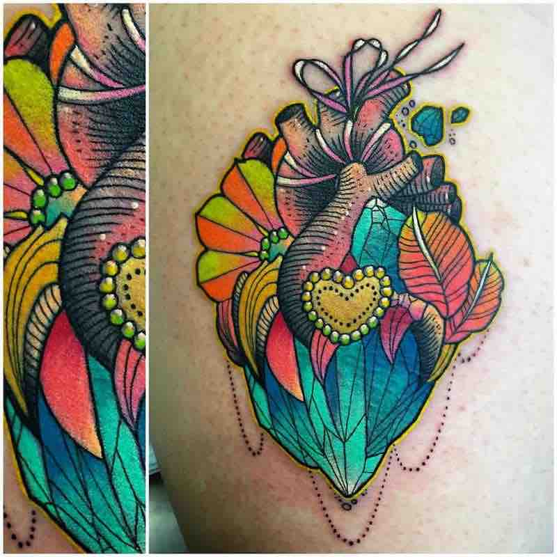 Heart Tattoo by Katie Shocrylas