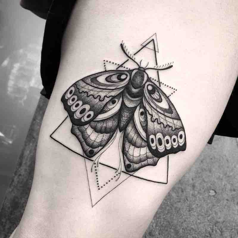 Moth Tattoo 2 by Franki Tattoo