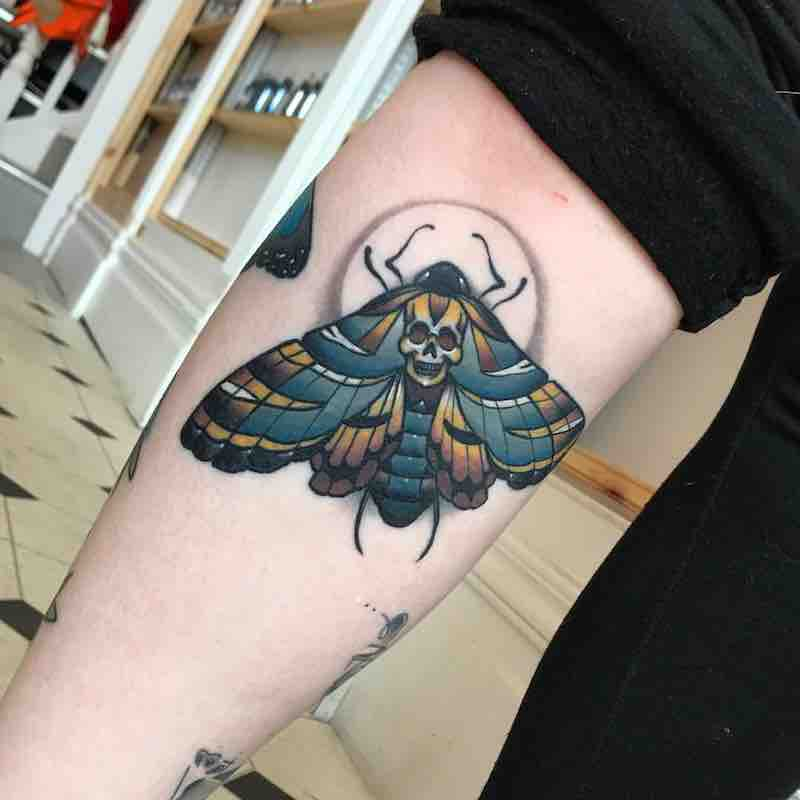 Moth Tattoo by Fraser Peek