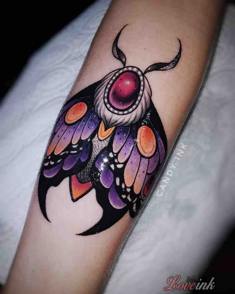 Moth Tattoo by Laura Konieczna