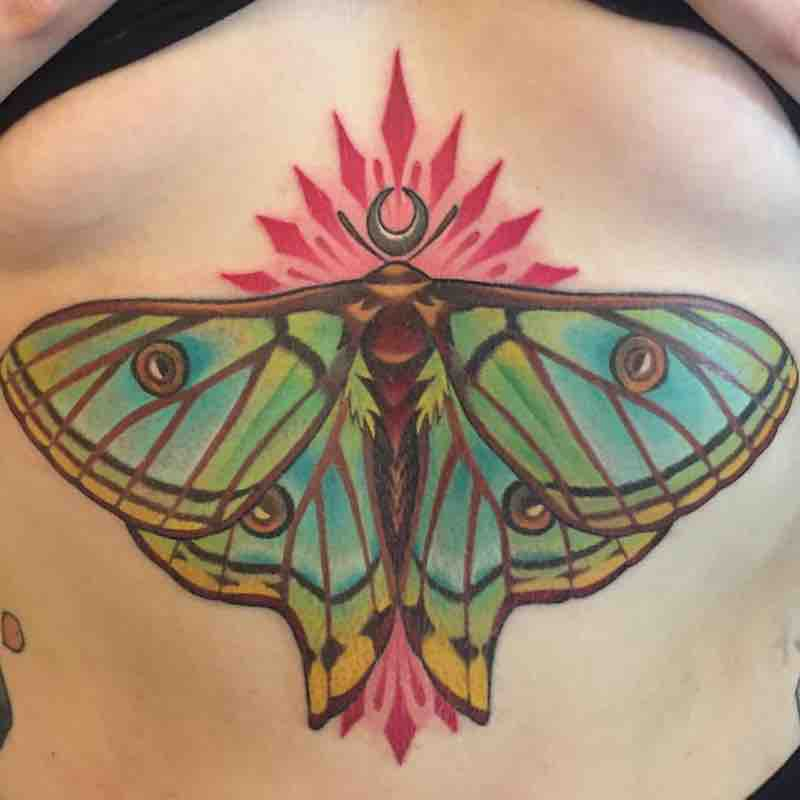 Moth Tattoo by Michelle Maddison