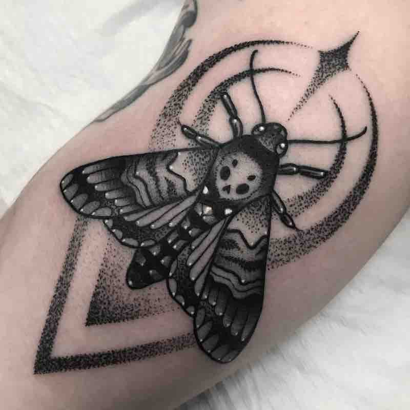 Moth Tattoo by Patrick Whiting