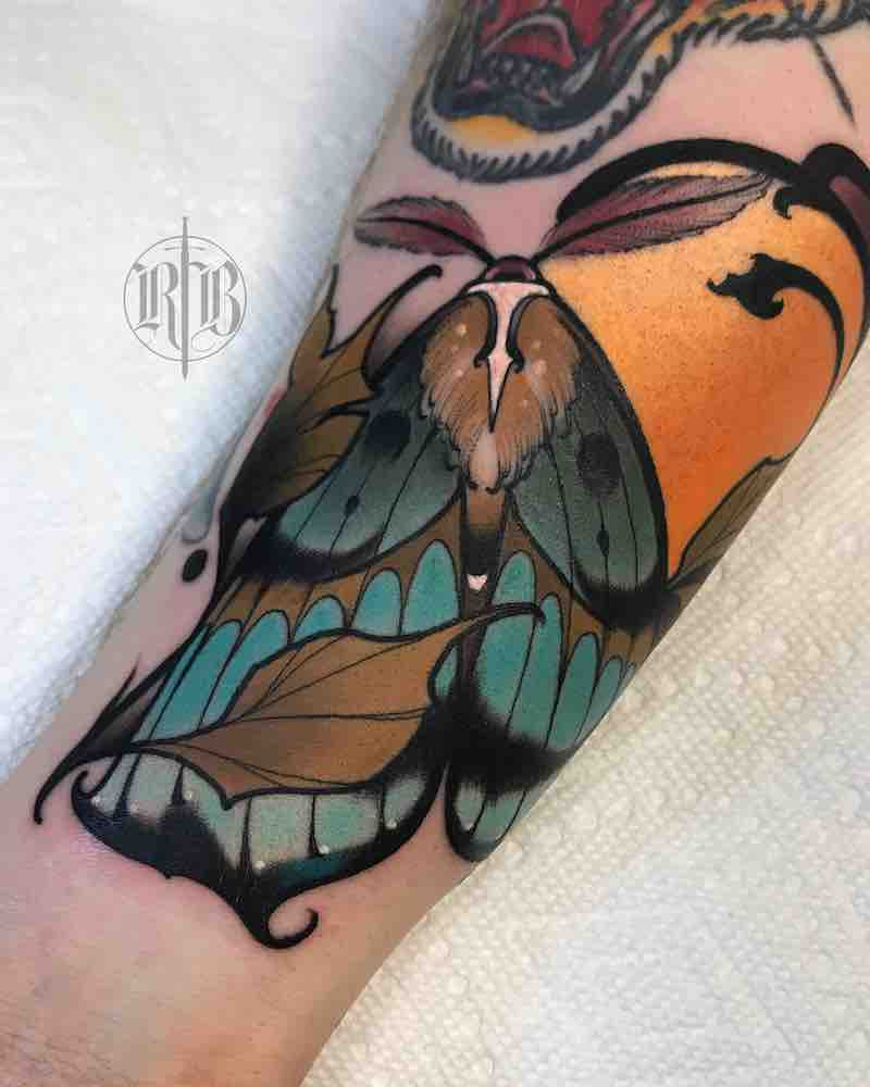 Moth Tattoo by RB Tattoo