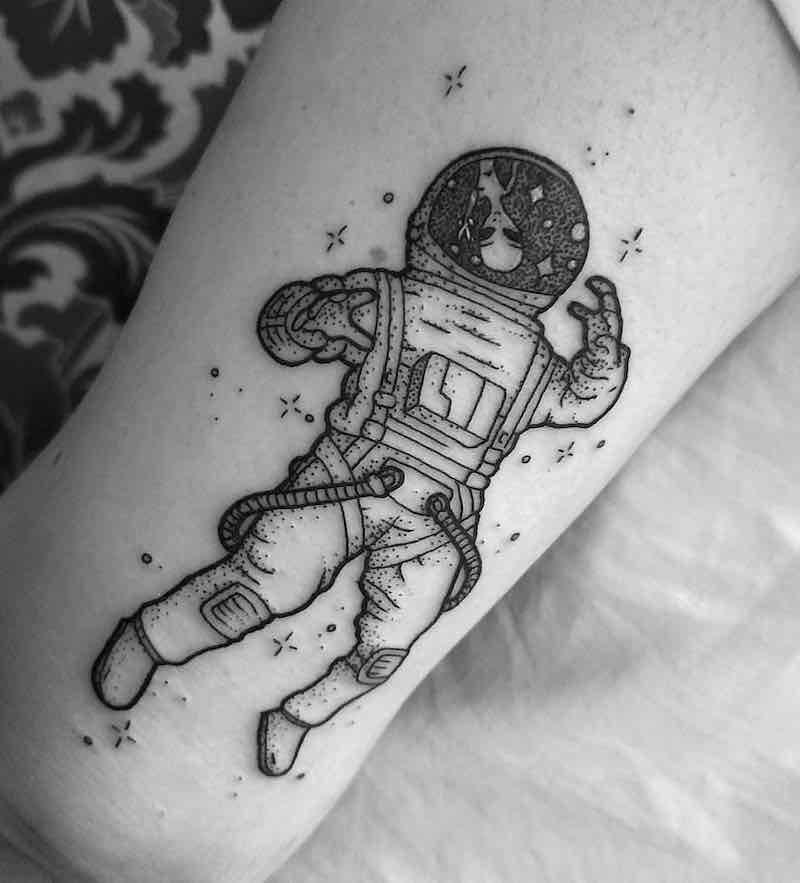 Astronaut Tattoo 2 by Katherine Jarre
