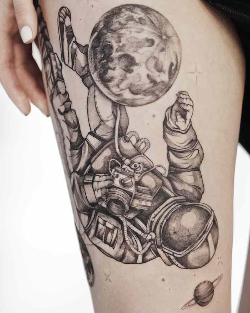 Astronaut Tattoo 2 by mrtnv