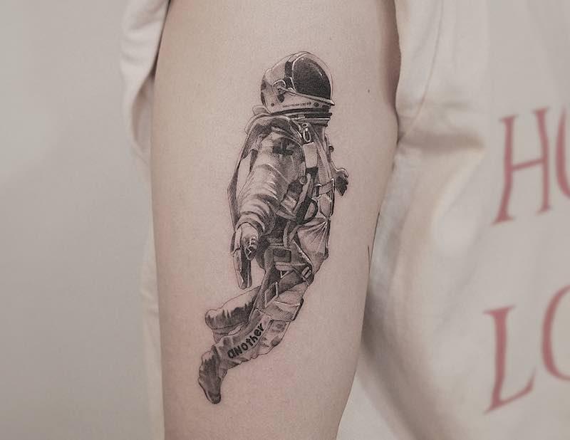 Astronaut Tattoo Zeal Tattoo