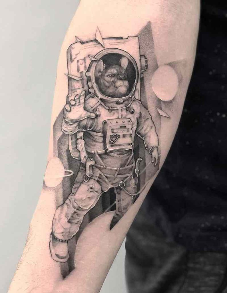 Astronaut Tattoo by Michael George Pecherle