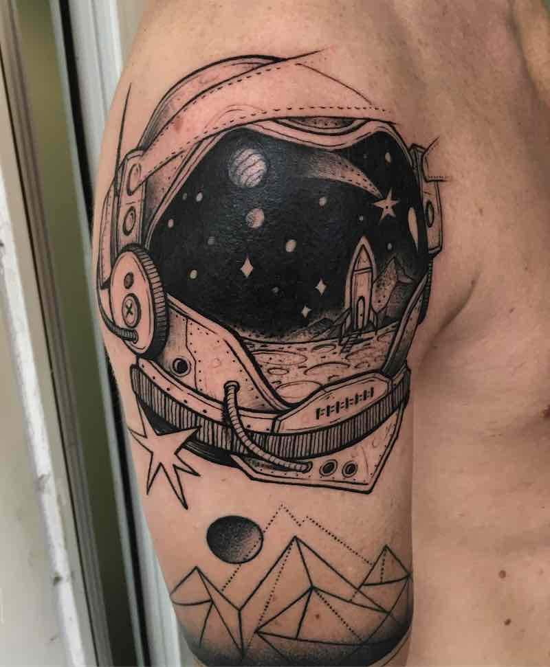 Astronaut Tattoo by Nhat Be