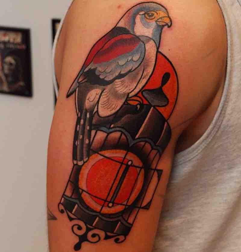 Bird Tattoo 2 by Leah Tattooer