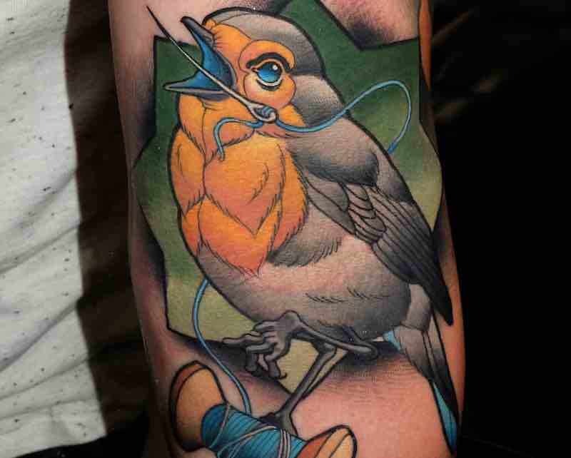 Bird Tattoo Myrhwan Cortes