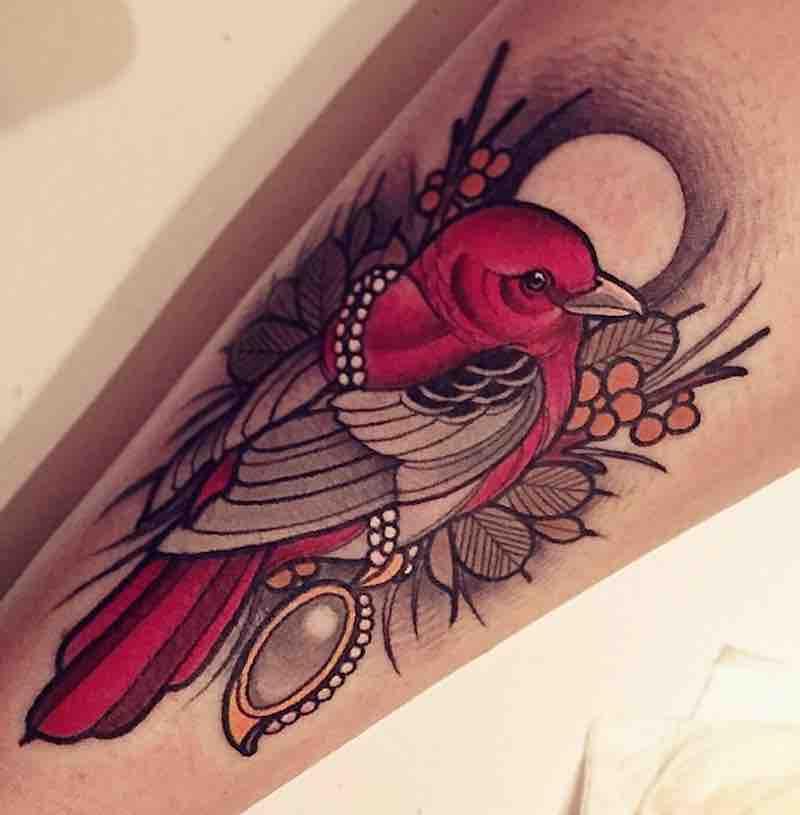 Bird Tattoo by Brando Chiesa