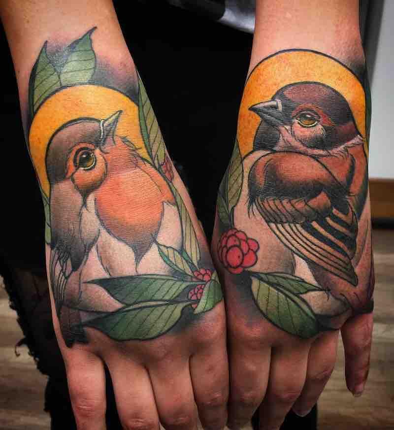 Bird Tattoo by Myrhwan Cortés