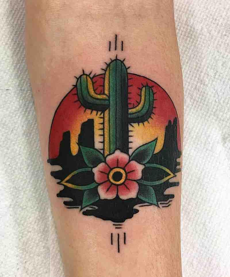Cactus Tattoo 2 by Robbie Pina