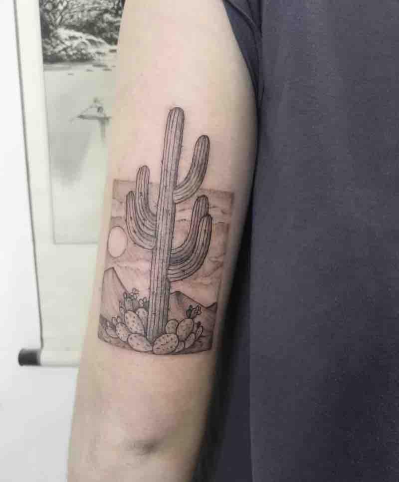 Cactus Tattoo by Kati Cherry