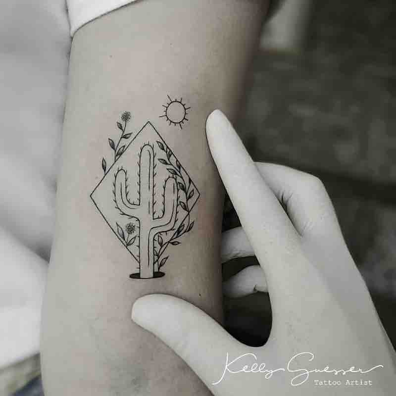 Cactus Tattoo by Kelly Guesser