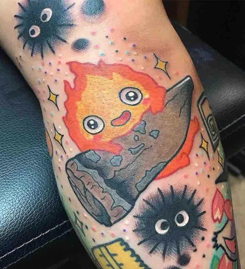 Calcifer Tattoo by Isashah Pereira