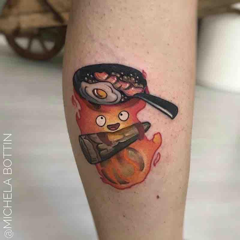 Calcifer Tattoo by Michela Bottin