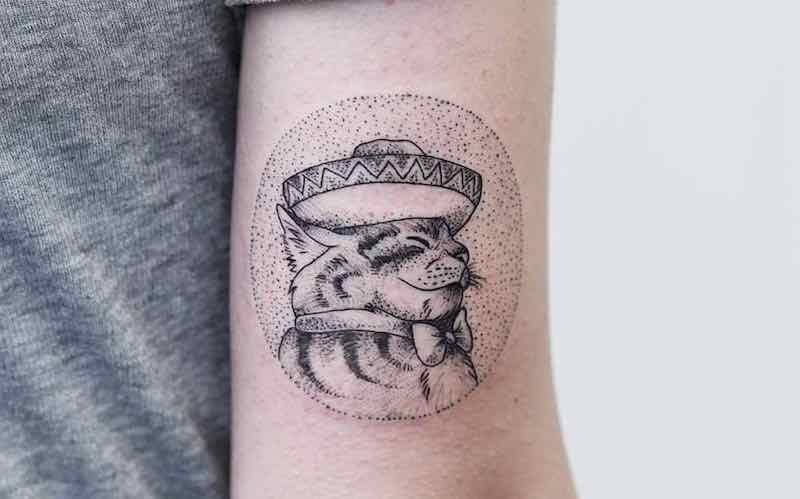 Cat Tattoo Phoebe Hunter