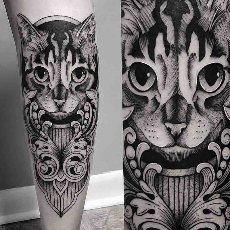 Cat Tattoo by Cutty Bage
