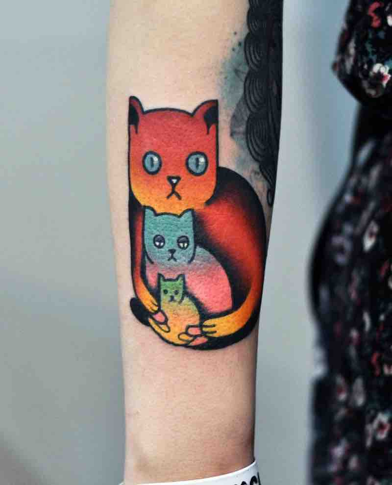 Cat Tattoo by David Peyote