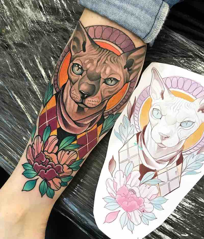 Cat Tattoo by Johnny Domus