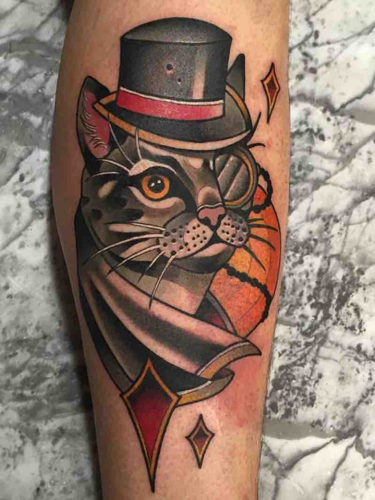 Cat Tattoo by Leah Tattooer